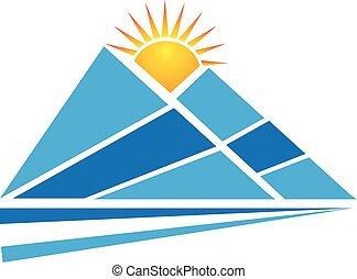 Mountains Sun Logo.