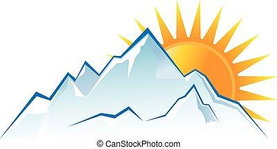 Mountains Sunset Logo.