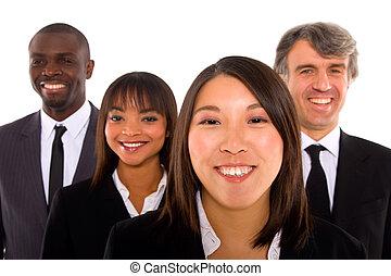 multi-ethnisch, mannschaft