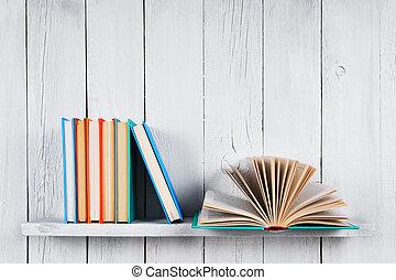 multi-gefärbt, books., buch, rgeöffnete, andere