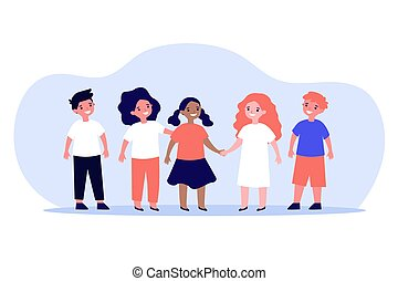 multiethnic, international, begriff, klassenkameraden, freundschaft, oder