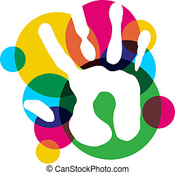 Multifarbige Vielfalt isoliert