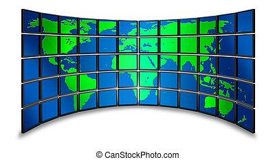 Multimedia überwachen die Welt