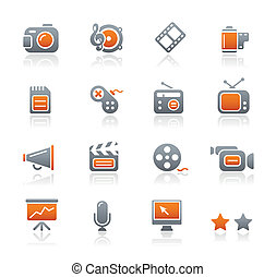 Multimedia-Ikonen / Graphit-Serie