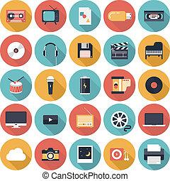 Multimedia-Pauschal-Ikonen eingestellt