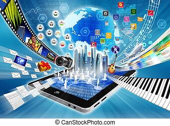 Multimedia- und Internet-Konzept