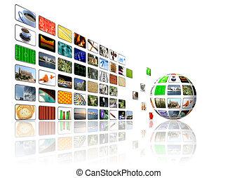Multimediaischer Hintergrund