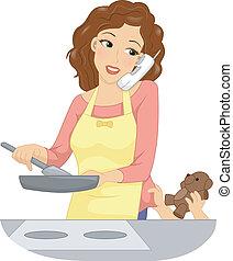 Multitasking Mom.