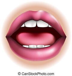 Mundkörperteil Illustration
