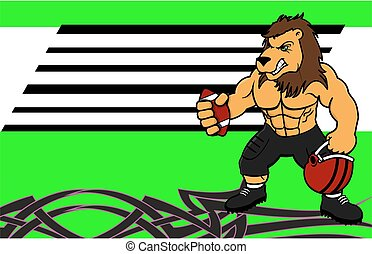 Muscle Lion American Football Card.