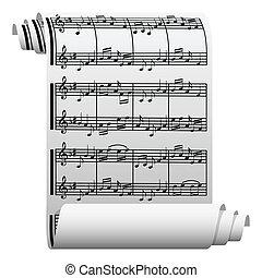 Musik auf Papier geschrieben
