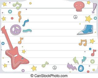 Musik-Doodle-Hintergrund.