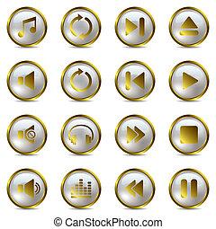 Musik goldene Symbole