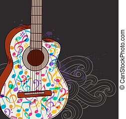 Musik Hintergrund mit Gitarre.