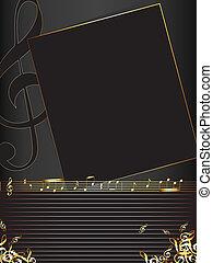 Musik Hintergrund mit goldenen Noten