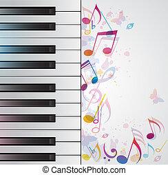Musik Hintergrund mit Klavier