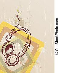 Musik Hintergrund mit Kopfhörern