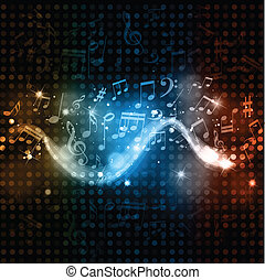Musik macht Discobeleuchtung im Hintergrund