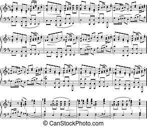 Musik schreibt Text