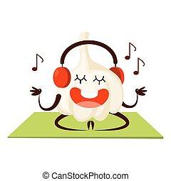 musik, sport, meditieren, knoblauch, zuhören