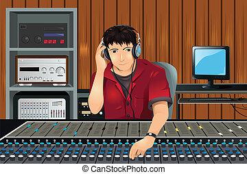 musik- studio, erzeuger