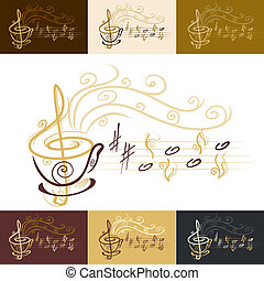 Musikalische Kaffeetasse