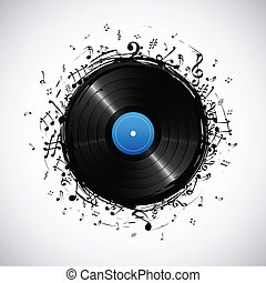 Musikalische Note von Disc