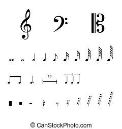 Musikalische Notensymbole