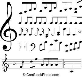 Musikalische Zeichen. Notizen