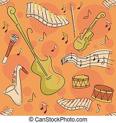 Musikinstrumente im Hintergrund
