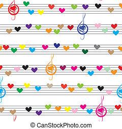 Musiknoten, Ton, Text