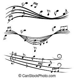Musiknotizen auf Stave