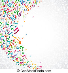 Musiknotizen isoliertes Design