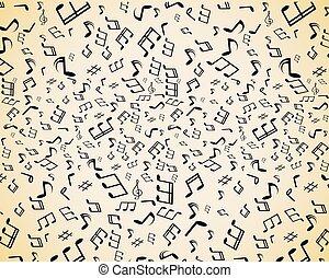 Musiknotizen nahtlos.