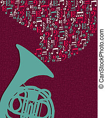 Musiknotizen splash Tuba Illustration