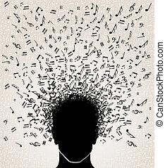 Musiknotizen von Kopfdesign