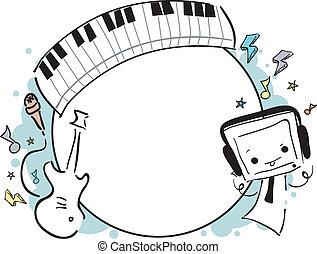 Musikrahmen-Doodle