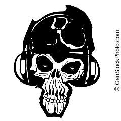 Musikschädel-Ikone