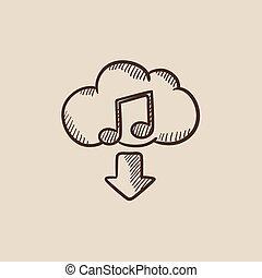 Musikskizzen-Icon herunterladen.