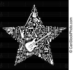 Musikstar Hintergrund