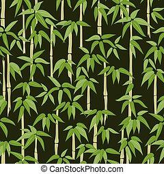 muster, bambus, seamless, wald