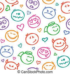 Muster des Lächelns