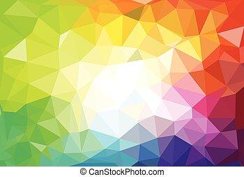 Muster geometrischer Formen. Dreieckige Mosaik-Hintergründe