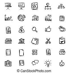 muster, hand-drawn, geschäfts-ikon