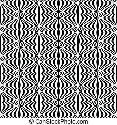 muster, -, illusion, optisch, geometrisch, zeichnung