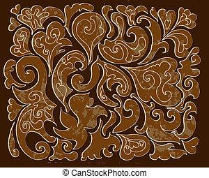 Muster von geschnitztem Holz