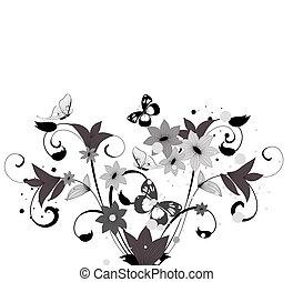 Musterblütenbusch