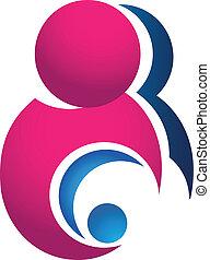 Mutter und Baby-Logo