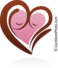 Mutterschafts-Ikone und Symbol