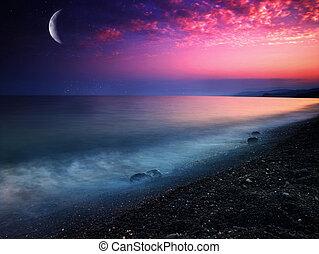 Mystisches Meer. Natürlichen Hintergrund abbrechen